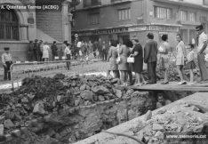 Fotografies de les obres de pavimentació de la ctra. de Vic, la Muralla i la ctra
